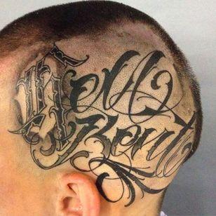 Hell Bent Lettering Tattoo @SamTaylorTattoos #SamTaylorTattoos #Southsidecustomlettering #Black #Lettering #LetteringTattoo #Australia #HellBent