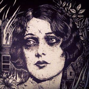 Blackwork illustration by Jean-Luc Navette. #JeanLucNavette #blackwork #vintage #gothic #horror #dark #macabre #dotwork #woman #portrait