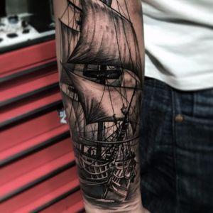 #navio #ship #JuniorInked #realismo #ElectricInk #brasil #portugues