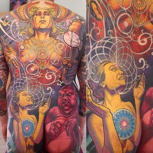 Back Tattoo by Steve Moore #back #backtattoo #backpiece #largetattoos #bigtattoos #SteveMoore