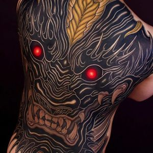 Backpiece by Shiryu #Shiryu #shiryutattoo #irezumi #japanese #oriental #blackwork #tattoooftheday