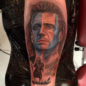 Braveheart Tattoo by Chris Jones #Braveheart #BraveheartTattoo #MelGibson as #WilliamWallace #Portrait #MoviePortraits #ChrisJones