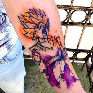 For all the Dragon Ball Z fans...by Jagood #Jagood #JagoodTattoo #watercolor #warsaw #polishartist #Dragonball