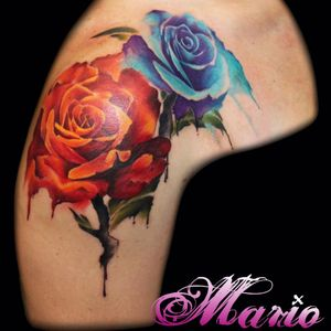 #InkedByMario #MarioGregor #aquarela #watercolor #TatuadorGringo #colorida #colorful #flores #flowers