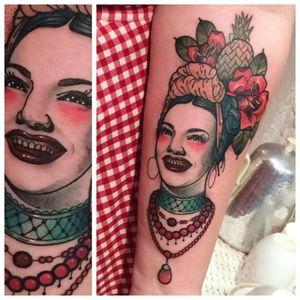 Creole tattoo #RockyZéro #portrait #fruits #creole #woman