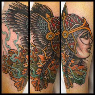 Valkyrie Tattoo by Ryan Ussher #ValkyrieTattoo #Valkyrie #NorseMythology #NorseTattoos #NordicTattoo #RyanUssher