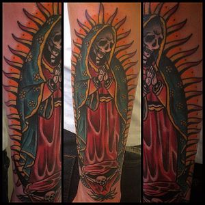 Lady Of Guadalupe Tattoo by @trommastattoo #OurLadyOfGuadalupe #VirginMary #religious #TrommasTattoo