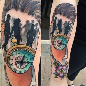 Morrissey Tattoo by Jay Joree #Morrissey #faceless #neotraditional #JayJoree