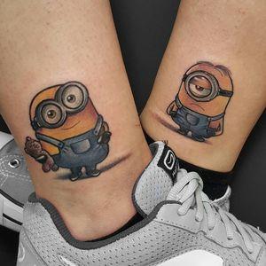 Matching Minions tattoos by Michela Bottin #MichelaBottin #geek #matching #minions
