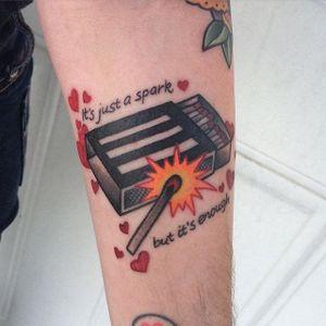 Paramore tattoo by Stacie J Becker. #paramore #band #music #lyrics