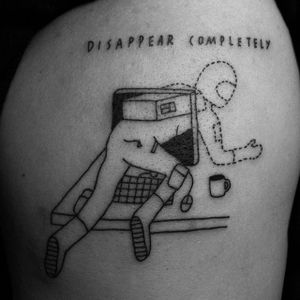 Bye forever! via instagram seanfromtexas #linework #currentmood #seanfromtexas #computer #disappearcompletely