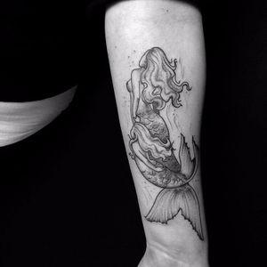#cintiasuzuki #Mermaid #Sereia #blackwork #tatuadoresbrasileiros #tatuadoresbr
