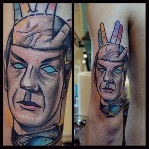Spock tattoo by Karl H. #spock #leonardnimoy #startrek #scifi #KarlH
