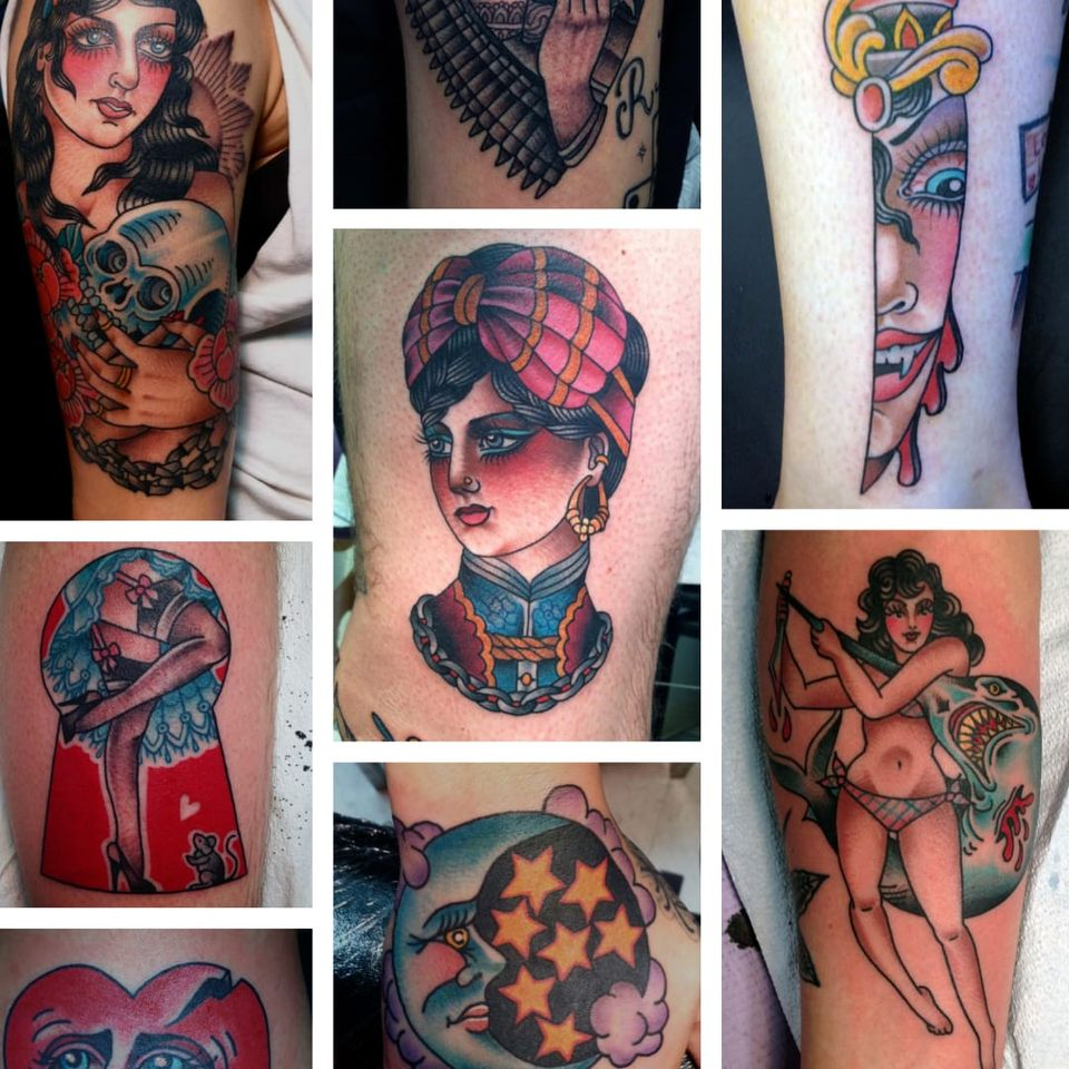 A selection of Inoue's striking traditional tattoo work. From www.marinainoue.com/