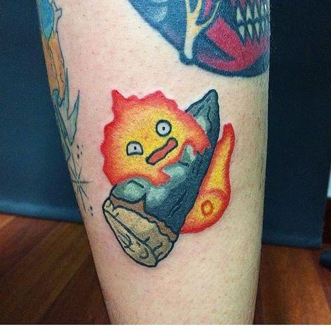 Kawaii Fire ball Tattoo by Maria Truczinski #MariaTruczinski #Cartoon #Kawaii #Cartoontattoo #Kawaiitattoo #Fireball