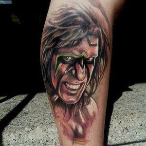 Ultimate Warrior Tattoo, artist unknown #UltimateWarrior #WWE #wrestling #portrait