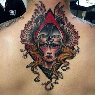 Valkyrie Tattoo by John Setzer #ValkyrieTattoo #Valkyrie #NorseMythology #NorseTattoos #NordicTattoo #JohnSetzer zer