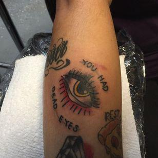 Traditional Eye Tattoo by Suzie Rose #Eye #allseeingeye #traditional #oldschool #SuzieRose