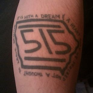 Cannot believe I don't know who this person with a Hot Cross/Iowa tattoo mashup is #hotcross #screamo #skramz #iowa #515