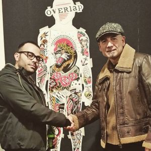 The project literally brings artists together, photo from Peppe Zazzera, Instagram #overlapproject #peppezazzera #artists #tattooartists