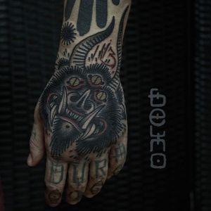 Monster Tattoo by Belmir Huskic #monster #monstertattoo #traditional #traditionaltattoo #darktraditional #darktattoos #oldschool #darkartists #BelmirHuskic