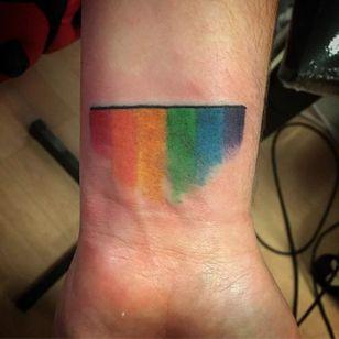 Painterly flag (via IG—tattooed_whitetrash) #PrideTattoo #PrideFlag #LGBT #Equality #Rainbow #RainbowTattoo