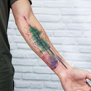 (via IG - skazxim) #PauloVictorSkaz #watercolor #freeform #tree