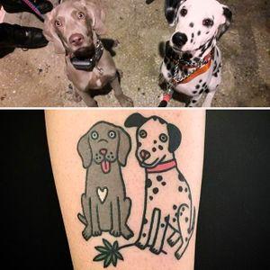 Dogs Tattoo by Jiran @Jiran_Tattoo #JiranTattoo #Pet #PetTattoo #Neotraditional #Seoul #Korea #dogs
