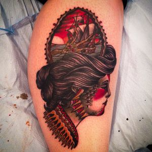 Siren by Aaron Hodges (via IG-aaronhodgesart) #traditional #color #surrealism #aaronhodges #spidermurphys