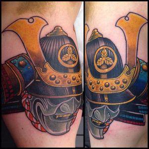 Kabuto Tattoo by Steve H Morante #Kabuto #KabutoTattoo #SamuraiTattoo #SamuraiHelmet #JapaneseTattoo #SteveHMorante