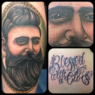 Ned Kelly Tattoo by Richard Andrews #NedKelly #NedKellyTattoo #OutlawTattoo #FolkloreTattoos #AustralianTattoos #RichardAndrews