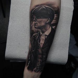 Tommy Shelby Tattoo by Edgar Ivanov #peakyblinders #tommyshelby #portrait #EdgarIvanov