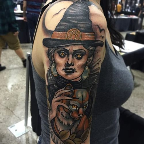 #witchtattoo #neotraditionaltattoos #Yonmar