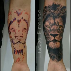 #LucasFranca #brazil #brasil #brazilianartist #tatuadoresdobrasil #realismo #realism #pretoecinza #blackandgrey #leao #lion