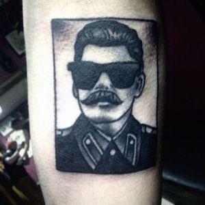 Chiller Stalin by Naum (via IG -- naum_tattoo) #naum #stalin #communism