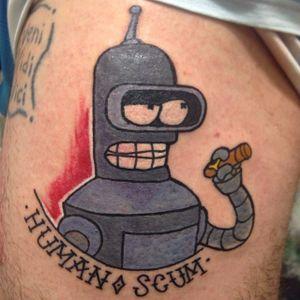Bender Tattoo by Arnau Roca Gómez #Bender #Futurama #robot #cartoon #ArnauRocaGomez
