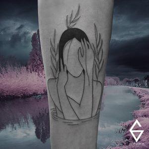 Trabalho do George Silva! #GeorgeSilva #tatuadoresbrasileiros #tatuadoresdobrasil #tattoobr #Natal #fineline #minimalist #minimalista #linhafina #traçofino #blackwork #girl #mulher #garota