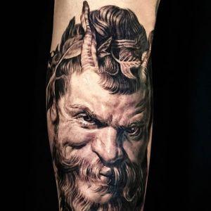 Peter Paul Rubens inspired piece by Sergio Sanchez #SergioSanchez #blackandgrey #portrait #baroque #tattoooftheday