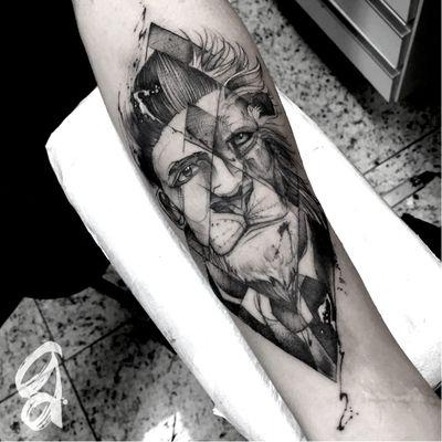 Homem Leão! #GustavoAbreu #blackwork #fineline #sketch #TatuadoresDoBrasil #homem #man #leao #lion