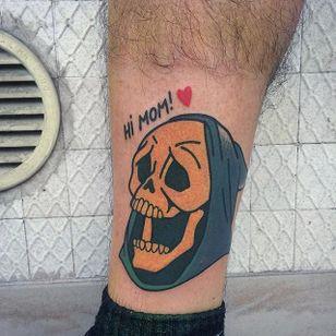 Skeletor tattoo by Vinz Flag. #VinzFlag #popculture #cartoon #bold #color #heman #skeletor