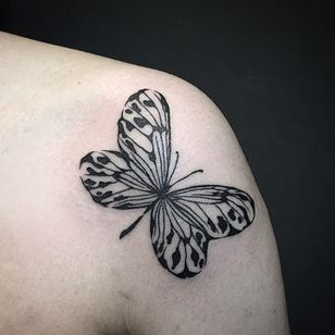 A lovely butterfly (IG-@dan_tattoo_o) #blackwork #dotwork #cattattoo #linework #southkorea #southkoreantattooartist #southkorean #butterfly #blackworkbutterfly #butterflylady