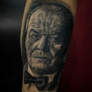 Another awesome Jack Nicholson tattoo by Juande Gambin. #juandegambin #portraittattoos #jacknicholson