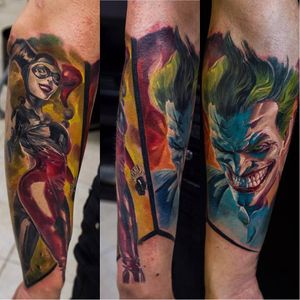#arlequina #harkeyquinn #coringa #joker #comics #NikolayDzhangirov #tatuadorRusso #realismo #realism #brasil #brazil #portugues #portuguese