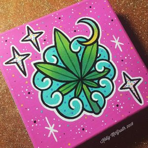 Marijuana art by Kelly McGrath #KellyMcGrath #art #painting #marijuana