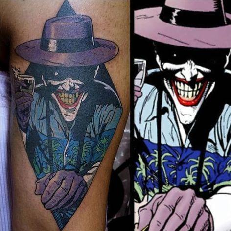 Killing Joke Tattoo by Steve Rieck #thekillingjoke #killingjoke #batman #batmanjoker #joker #dccomics #comicbook #SteveRieck