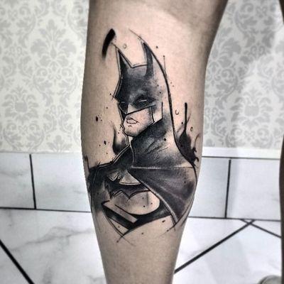 #GabiVitorino #brasil #brazil #brazilianartist #TatuadorasDoBrasil #aquarela #watercolor #blackwork #batman #dc #superhero #superheroi #hq #comics #sketch #nerd #geek #brucewayne