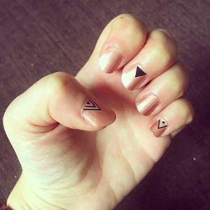 Minimalist Nail Tattoo Art #NailTattoo #NailArt #NailTattoos #TattooFashion #minimalist