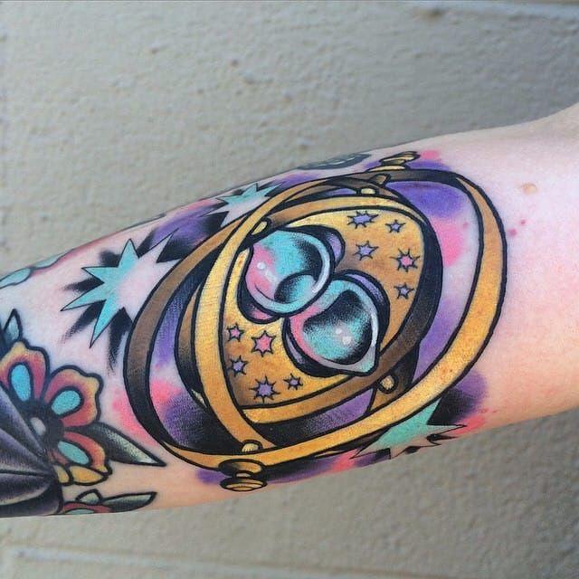 Linda tattoo por Mathew Luettger! #MathewLuettger #timeturner #viratempo #harrypotter #harrypottertattoo