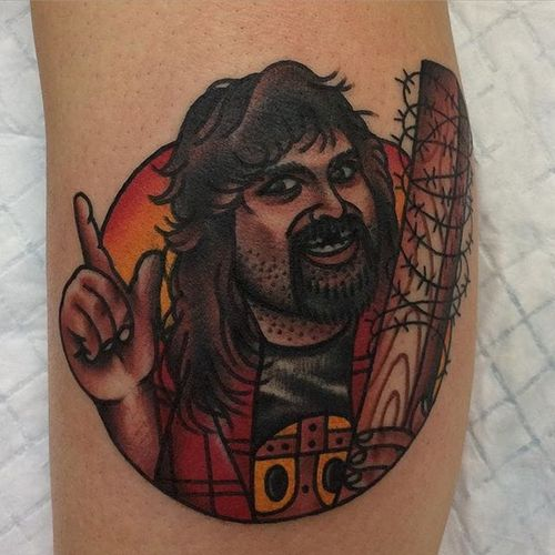 Mick Foley Tattoo by @los_sanchez #WWE #wrestling #MickFoley #LosSanchez