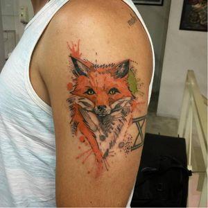 #raposa #fox #FelipeMello #aquarela #watercolor #fineline #exclusivas #brasil #brazil #portugues #portuguese